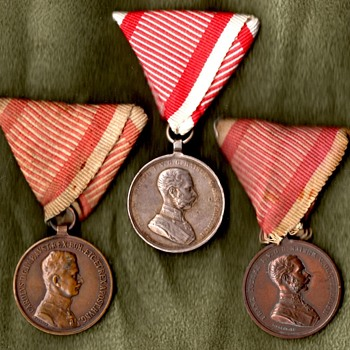 WWI Austrian Bravery Medals - Military and Wartime