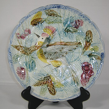 BEAUTIFUL AND VERY OLD WALLENDORF / KAMPFE & HEUBACH MAJOLICA CHARGER / PLATE CA. 1896 - 1920
