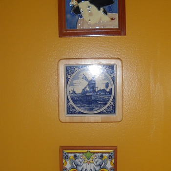 Various decorative tiles - Art Pottery