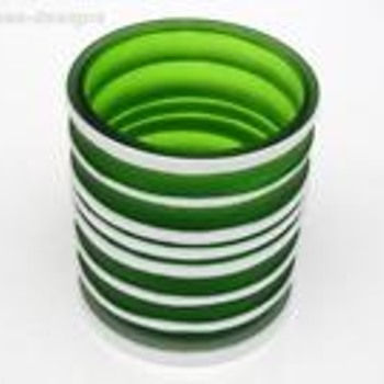 Gorgeously Green Satin Glass Vase