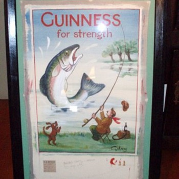 Guinness For Strength - Fisherman - Breweriana