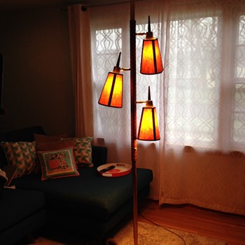 Danish modern tension pole lamp