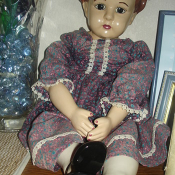 Porcelain faces,hands and feet with stuffed bodies - Dolls