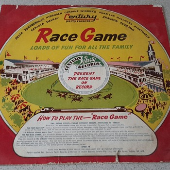 "Century Party Records ""RACE GAME"" 78 RPM"