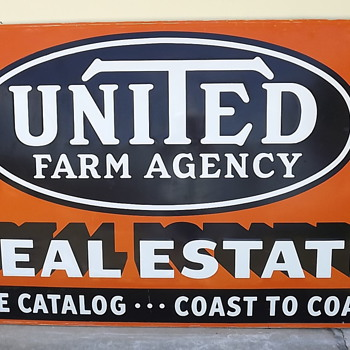 Vintage United Farm Agency Sign - Advertising