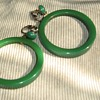 Bakelite or other plastic hoop earrings 1960s