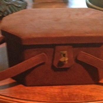 """Vintage Suede """"Box"""" Handbag - Bags"""
