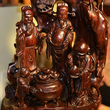 Huge and Intricate Chinese Rosewood Carving