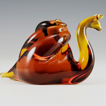 Pilgrim Art Glass Large Vintage Snail