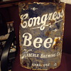 Curved Porcelain Beer Sign