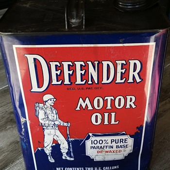 Defender Motor Oil 2 Gallon Can