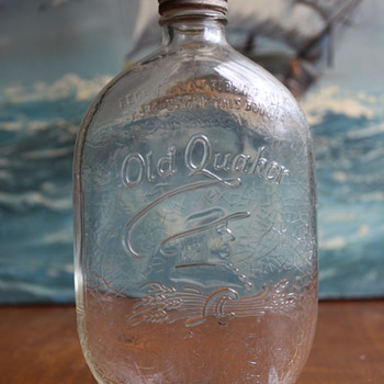 Old Quaker Liquor Bottle - Bottles