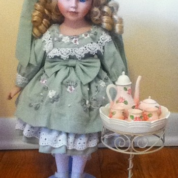 Tea Set Porcelain Doll