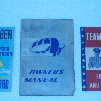 Vintage WW2 Era Coast Guard Seabee's Recruitment Manuals