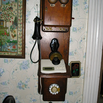 Wooden Kellogg  phone, Chicago co. Nov. 26, 1901 - Telephones