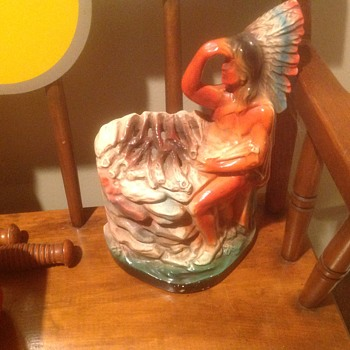 Indian chief and little white dove lamps - Figurines