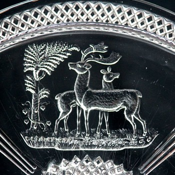 McKee & Bros. 'Deer and Pine Tree' c1886 - Glassware