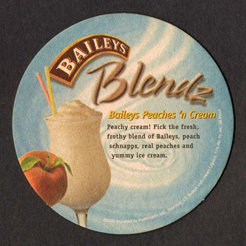 """Baileys Irish Cream"" - Bar Coaster"