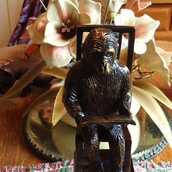 Monkey Reading Book, Bookend, Just one end, Need something for other End!!!!