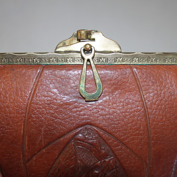 Hand tooled Leather Purse - Accessories