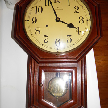 Vintage Hamilton Schoolhouse Clock with 7 Day Movement