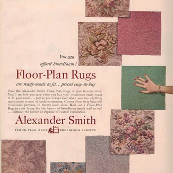 1950 Alexander Smith Carpet Advertisements