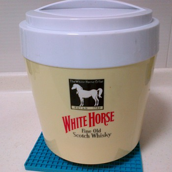 White Horse Scotch Whiskey Ice Bucket  - Advertising