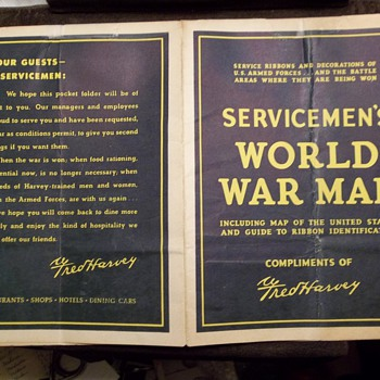 Servicemen's World War Map - Military and Wartime