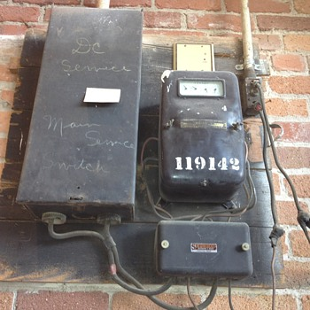 Old, old utility meter - Victorian Era