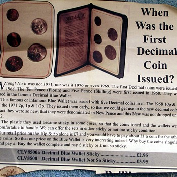 1968-britains 1st decimal coin set.