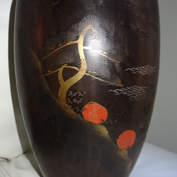 Reposted Japanese Hand painted Vase - Asian