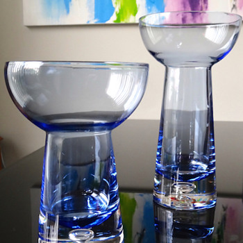 KROSNO CRYSTAL CANDLE HOLDERS 2 SIZES - Art Glass