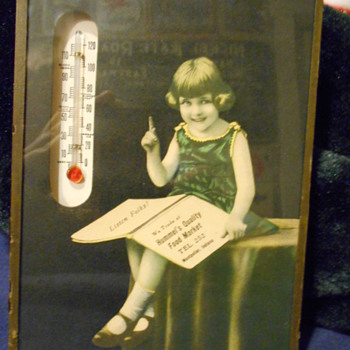 food store thermometer - Advertising