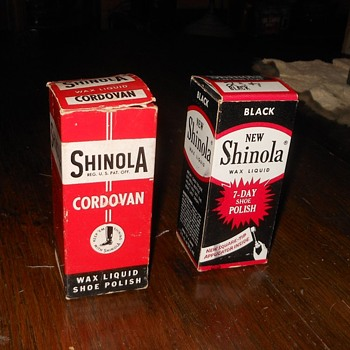 Vintage Shinola Shoe Polish with Original Boxes