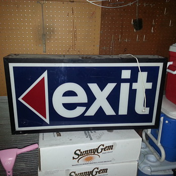 vintage exit sign - Signs