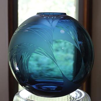 Mari Noguchi Vase Japan - Art Glass