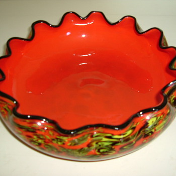 Yet Another Orange Bowl - Art Glass