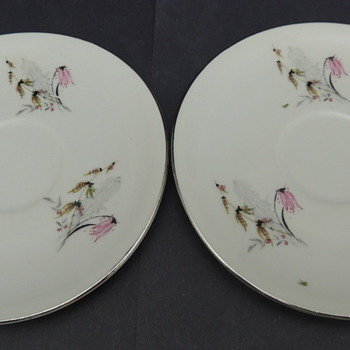 Royal Dutchess Mountain Bell Saucers - China and Dinnerware