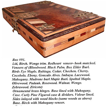 One of a kind Exotic wood box - Accessories