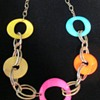 Groovy glass loops and chains necklace
