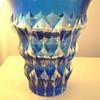 Val Saint Lambert Blue Vase - Signed