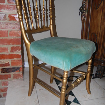 """GONE WITH THE WIND"" CHAIR....MGM LOT/PROP# on bottom of chair - Furniture"