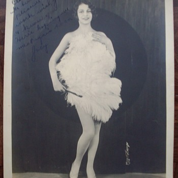 1920&#039;s Show Girl signed photo.