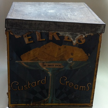 Elkes Biscuits tin.