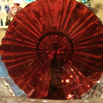 Another Red Glass Plate! - Glassware