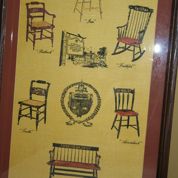 Hitchcock Chairs Advertising Linen
