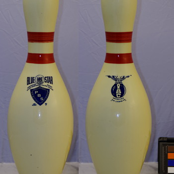 Professional Bowling Services Blue Star Bowling Pin - Sporting Goods