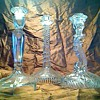 Clear glass candlesticks