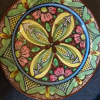 Spanish Charger  - Art Pottery
