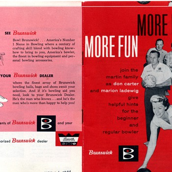 More Pins, More Fun - Brunswick Bowling Booklet 1961 - Sporting Goods